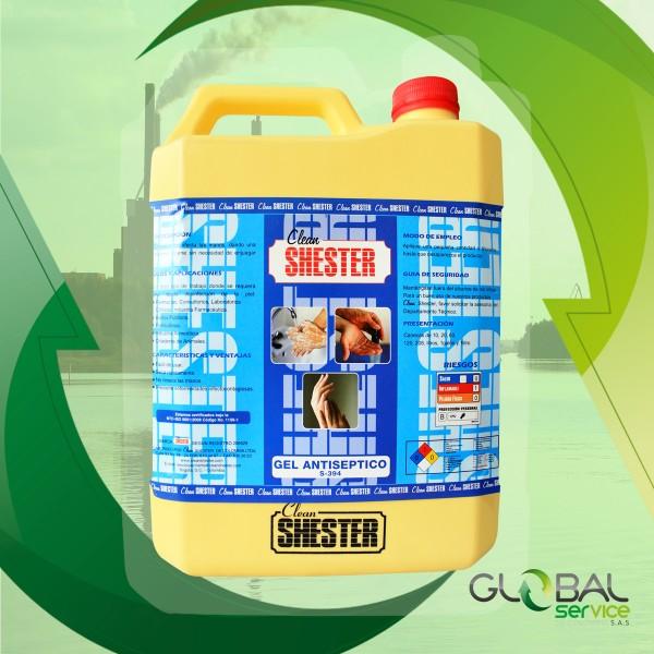 Gel antibacterial para drenajes